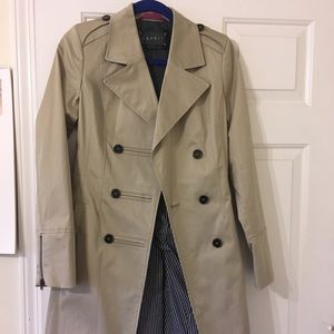 NWT Esprit tan trench coat size 2